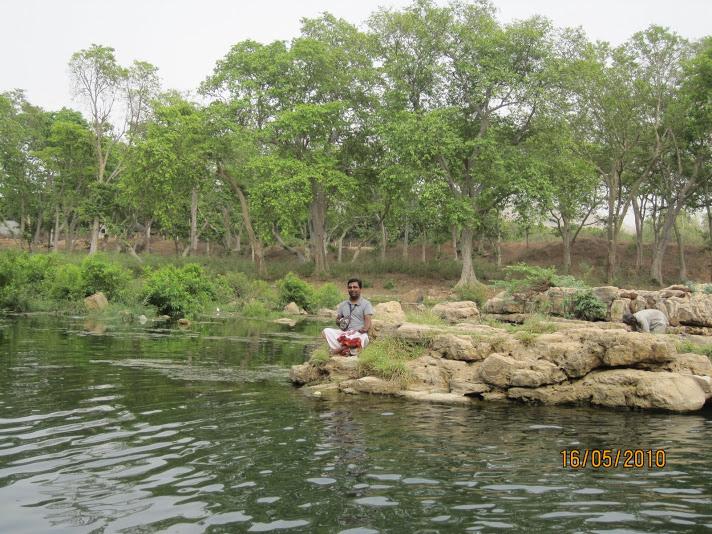 adiyen at Janki Kund,Chitrakut