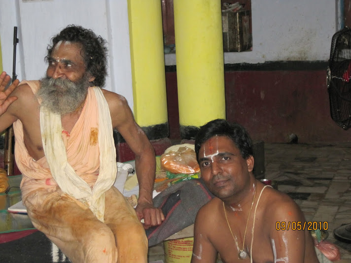 adiyen with priest at nandigram