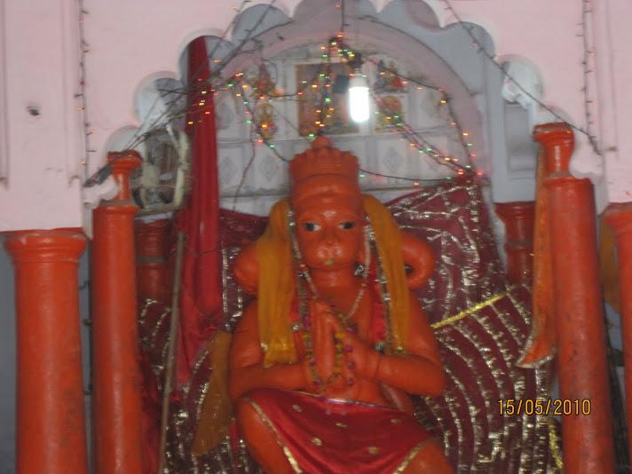 Hanuman at Bharadwaj muni ashram