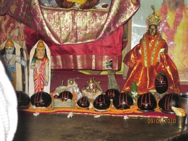 Saalagrama murthis at Bharat sannidi,Nandigram