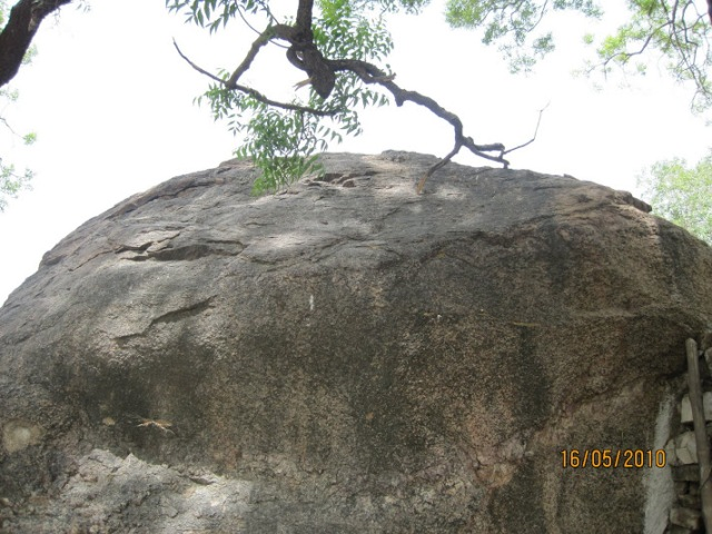the rock on which Rama slept