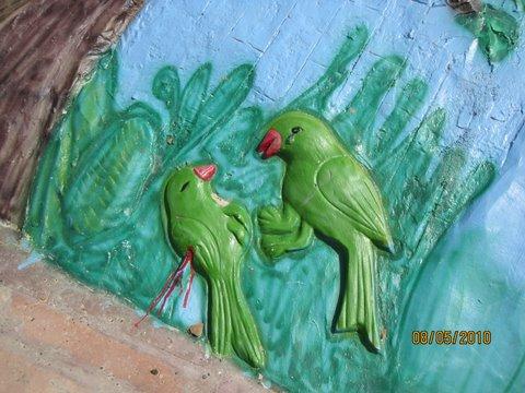 krounja birds on the banks of river tamasa