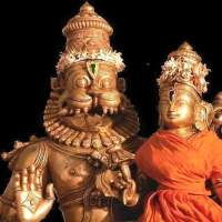 "Azhagiyasingar the ""Acharyar""                                            and Azhagiyasingar ..                               Lord LakshmiNrsimha deva"