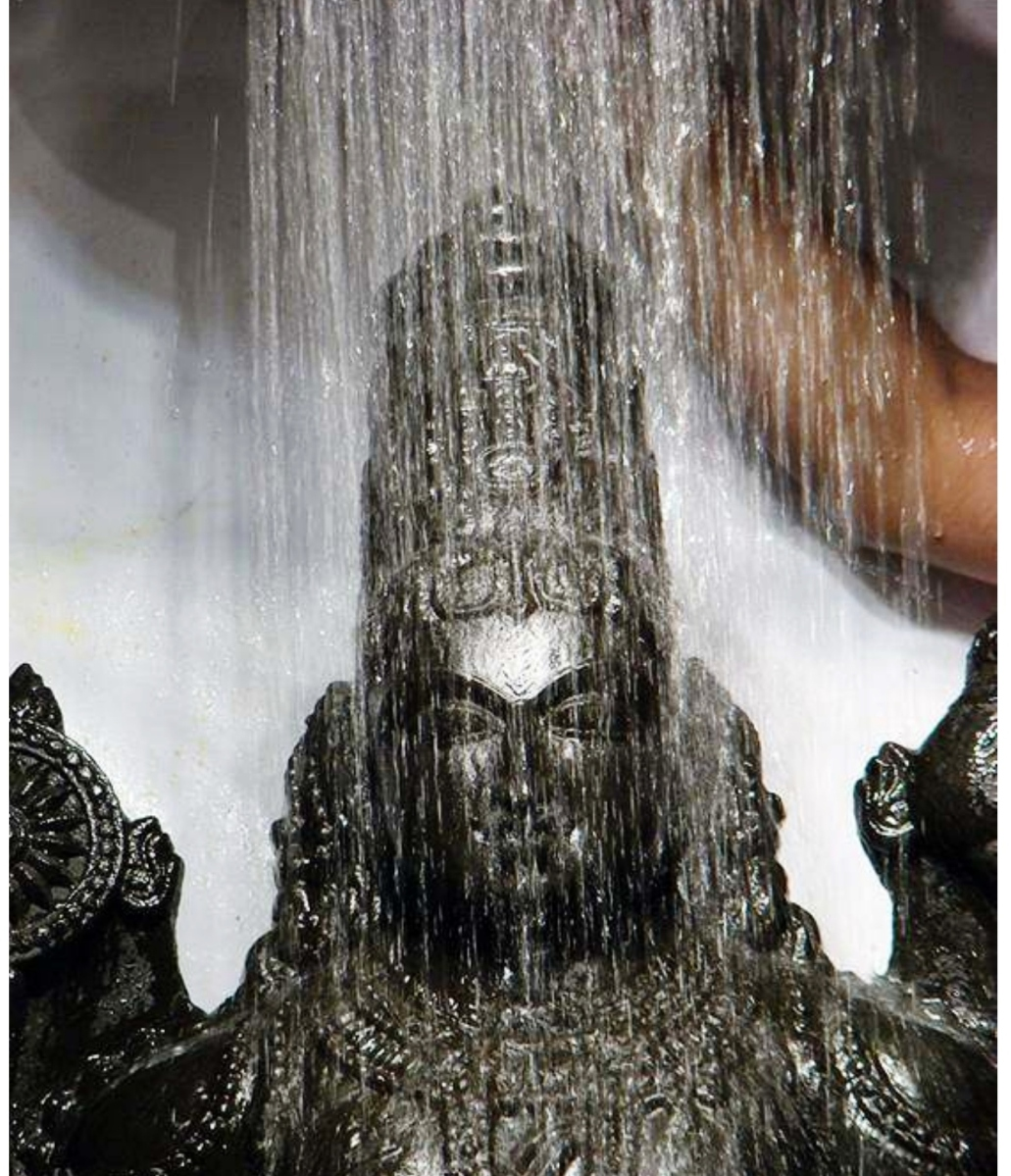 At Tirumala ....                                             Lord Venkateshwara                      Abhisheka vaibhavam ........       VenkaTAdri samam sthAnam  brahmANDe nAsti kinchana ...       venkateSa samo devo   ....                            na bhUto na   bhaviSyati........
