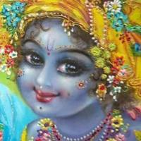 """Oh !  Lord Krishna, now at this moment let the royal swan of my mind enter the tangled stems of your lotus feet                                                   ..                                                                      Prana-prayana-samaye kapha-vata-pittaih.                                 kanthavarodhana-vidhau smaranam kutas tey."