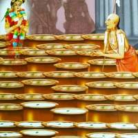 "The wish  fulfilled by             Swamy  Ramanuja at the               Holy shrine ""Thirumaliruncholai"""